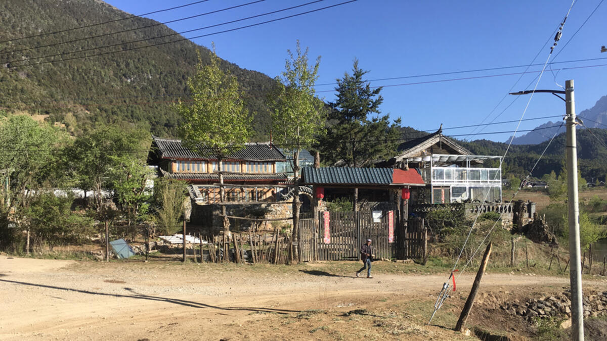 Wenhai Banmanyuan Guest House, the only lodging currently available in Wenhai Valley
