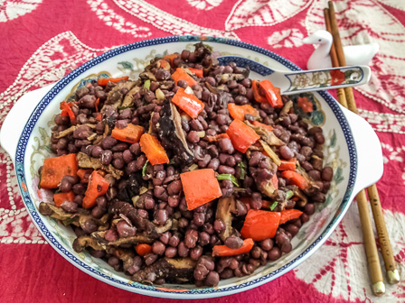 Recipe: Yunnan-style red beans and shiitakes