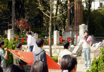 Commemorating fallen students in Kunming