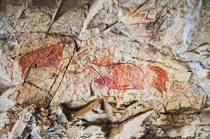 One example of Jinsha River Rock Art