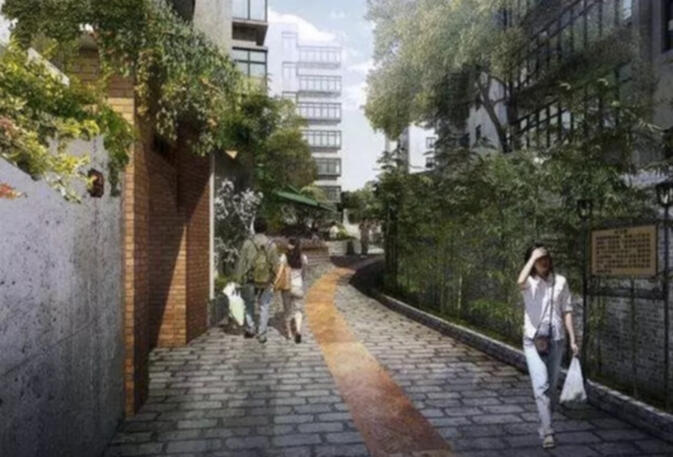 "Artist's rendering of a ""beautified"" alleyway near Green Lake Park"