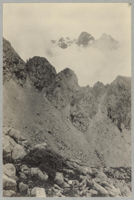 Mountain peaks August 27, 1922