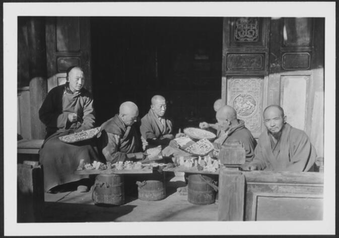 Lamas molding butter images at Yung-ning Lamasery Undated
