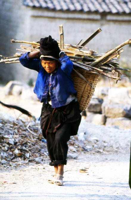 Achang woman returning from the fields