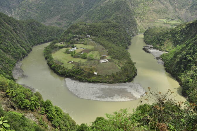 The 'First Bend' in the Nujiang River