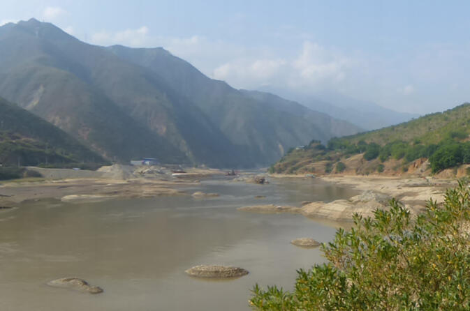 The Red River near the Yunnan city of Gejiu (image credit Wikipedia)