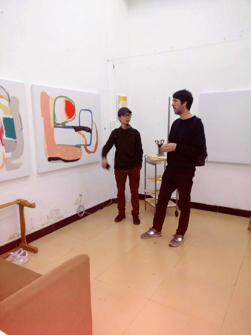 Luo Fei and Roman in the Kunming studio