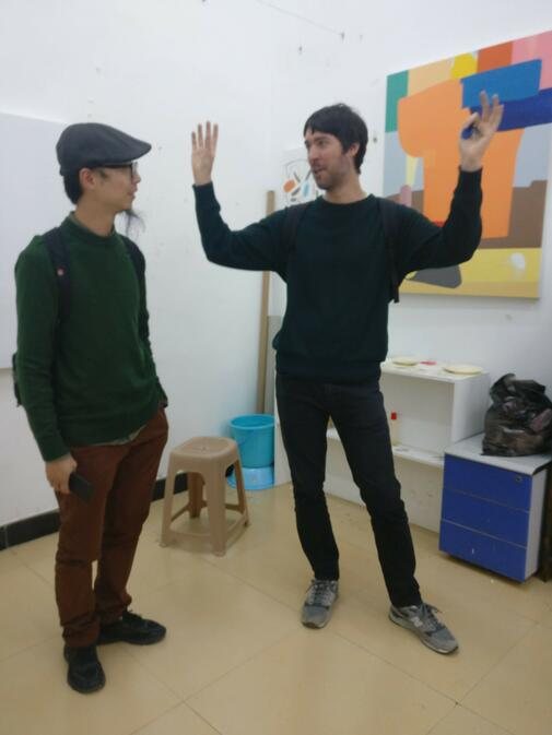 Swiss artist in residence in Kunming Roman Blumenthal and Luo Fei