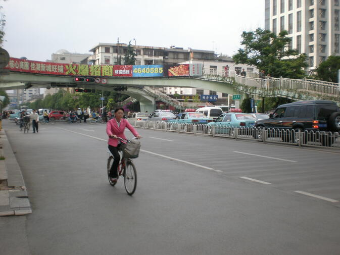 Kunming cyclist on Baita Lu