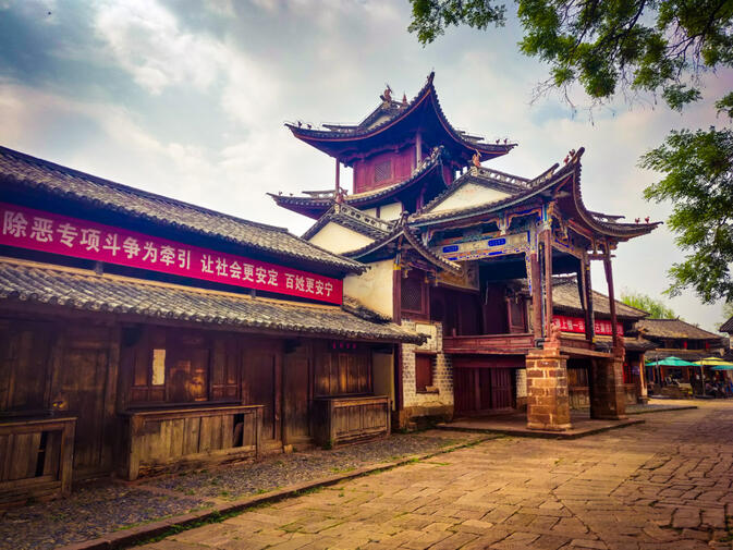The Sideng Xitai theater in the Yunnan town of Shaxi is one of the province's best-restored cultural artifacts