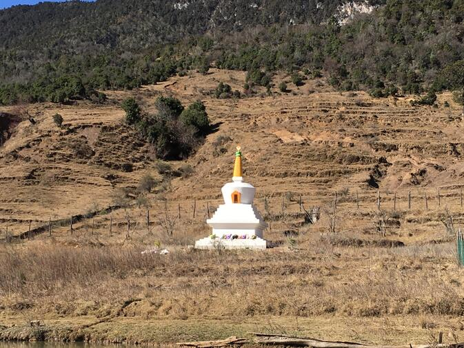 Stupa near Wenhai Village