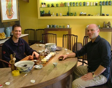 Rob Henrich (l) and Jake Caccia of Andao Tea