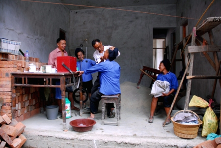 At the dentist, Shidong, Guizhou, 2006