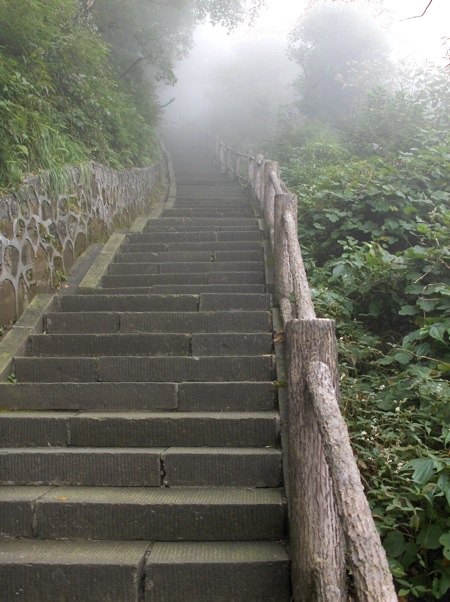 A day spent walking Emeishan's stairs is more punishing than one might expect.