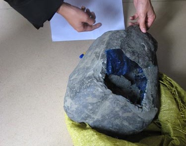 Drugs were concealed inside hollowed-out stones and smuggled across the Chinese border