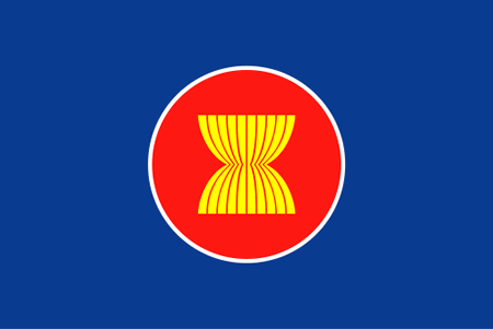 The flag of the Association of Southeast Asian Nations (ASEAN)