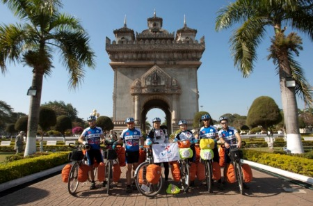 The team in Vientiane