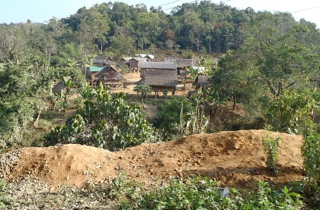 Village near Phou Khoun