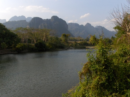 Laos' rugged karst terrain will necessitate heavy use of tunnels and bridges