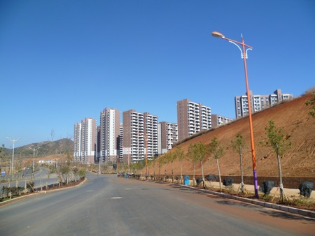 New apartment blocks are sprouting everywhere in Chenggong