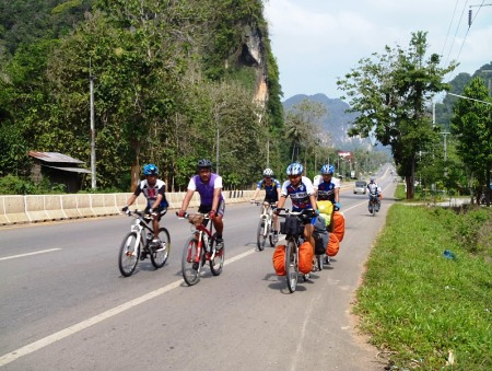 Riding with the Krabi cycling club