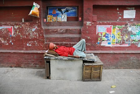 'Sleeping Man' by Eddy Kneefel, one of the photographers participating in the exhibition opening Friday evening at Moondog