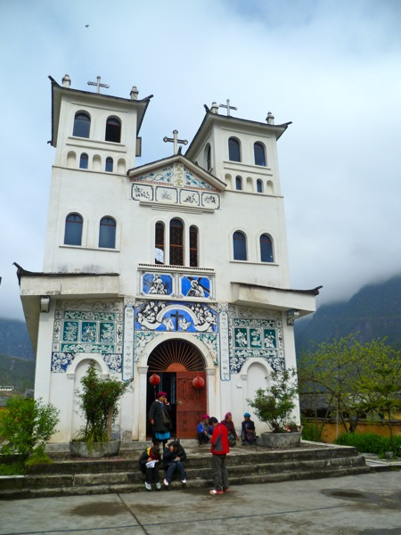 The Sacred Heart Catholic Church in Zhongding