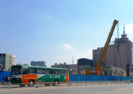 Subway construction on Beijing Lu
