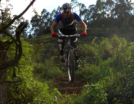 The forest trails are super tight in places, especially during the rainy season when the plants go crazy!