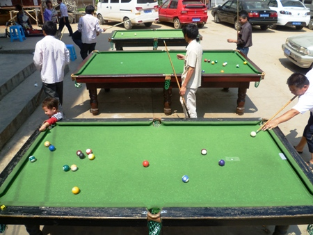 Pool sharks whiling away an afternoon