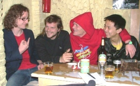 The Tribal Moons, circa 2009: (from left) Mark Corry, JP Tremblay, John Nevada Lundemo and Ma Tu