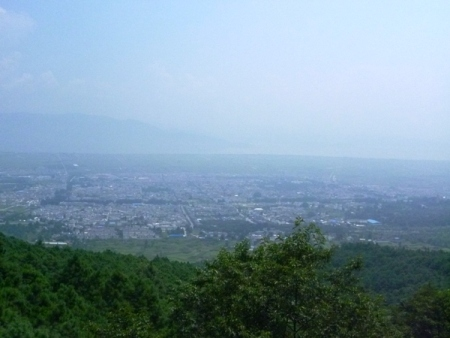 The view of Dali old town from Zhonghe Temple