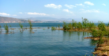 Erhai Lake: Almost a meter lower than a year ago