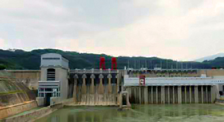 The dam at Jinghong
