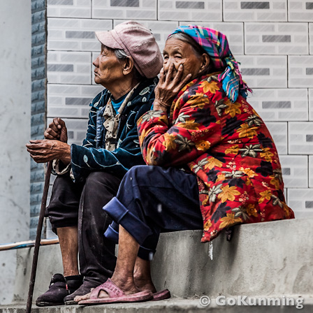 Two elderly Lisu women in Nujiang prefecture (photo: Yereth Jansen)