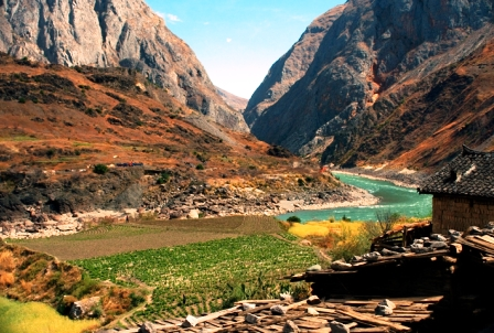 Site of a proposed dam near Baoshan, north of Lijiang