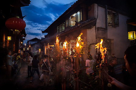 Torch Festival in Lijiang (photo: Michael Steverson)
