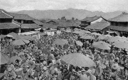 A photo by Joseph F Rock of Lijiang in the 1930s (courtesy of Jim Goodman)