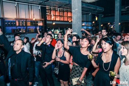 The crowd at a CD release party in Phnom Penh