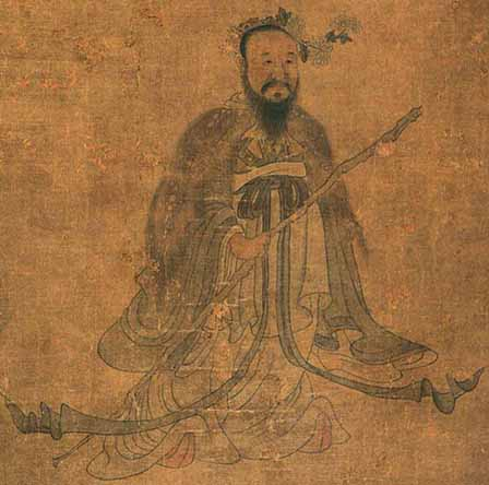 A painting of Qu Yuan