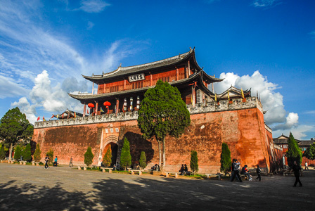 City wall gate, Weishan