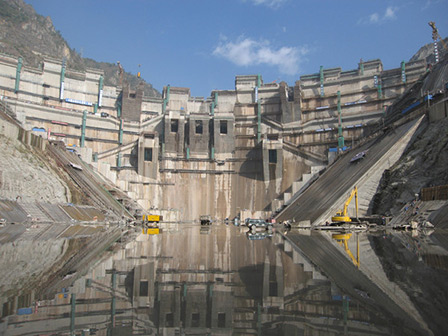 The Xiaowan Hydropower Station on the Lancang River in Yunnan