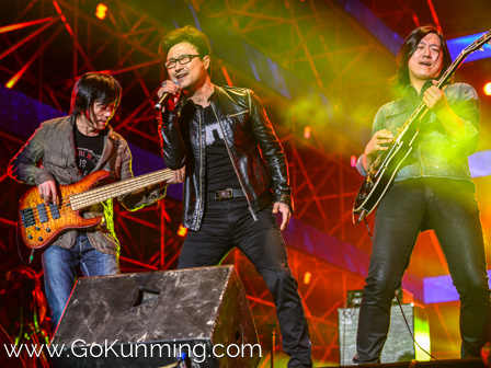 Rock legend Wang Feng headlined the first night.