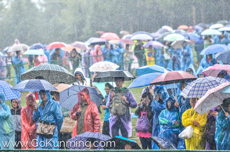 Despite rain, the crowd came out strong for the third day.