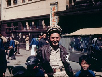 CNAC pilot Steve Kusak in Kunming in late August, 1945