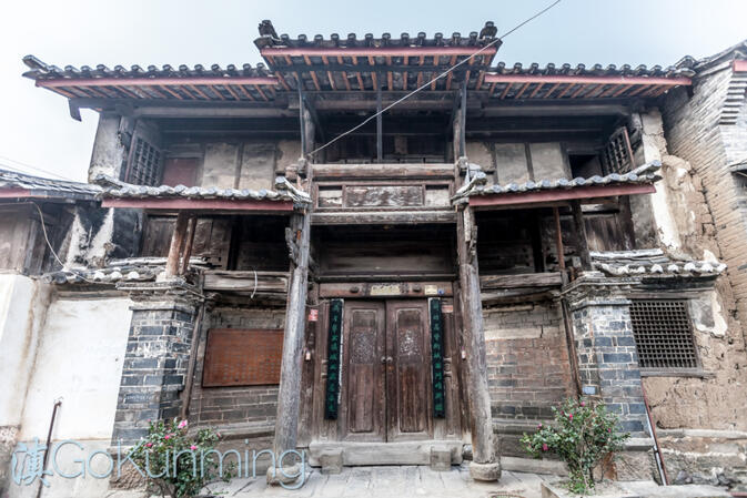 The facade of a 200-year old home in Jianchuan