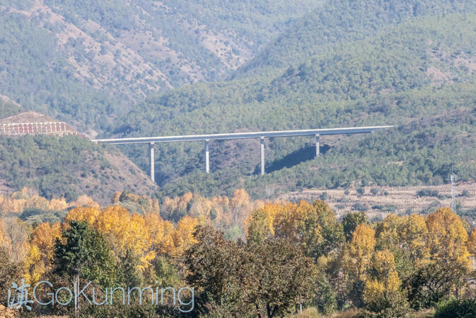 A section of the Dali-Lijiang Expressway, which will open to traffic in early 2014