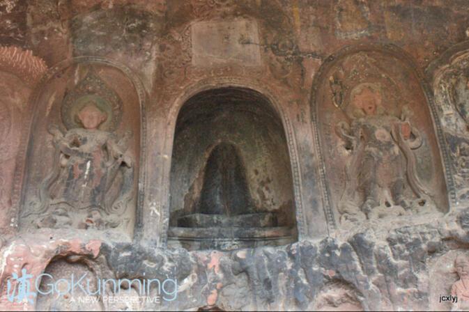 Un temple de la fertilité à Shibao Montagne, appelé ayangbai en chinois