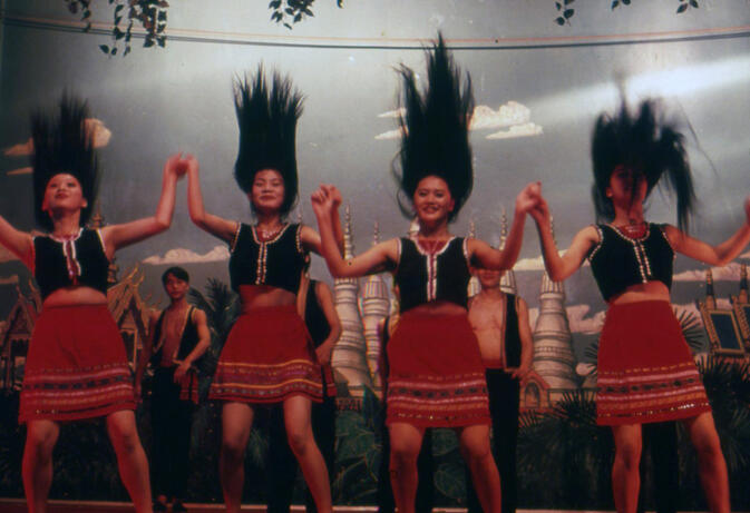 The Wa Hair Dance in a Dongfeng Lu restaurant