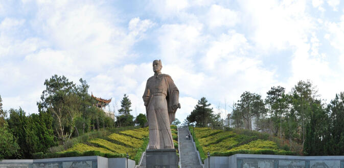 A statue of Zheng He in his birthplace in Yunnan, Jinning